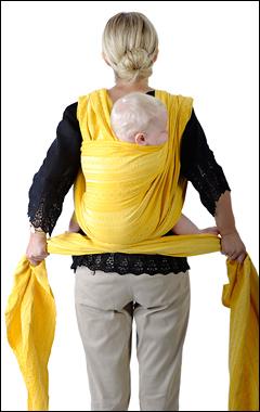слинг-шарф слинг для новорожденного намотка крест   над      карманом