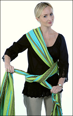 Инструкция слинг-шарф простой крест на бедре
