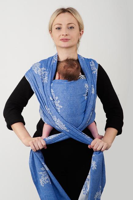 """Намотка слинг-шарфа """"крест над карманом"""""""