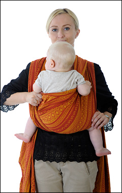 Инструкция        слинг-шарф простой крест