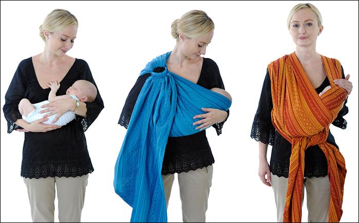 слинг-шарф слинг с кольцами новорожденный в слинге ребенок на руках