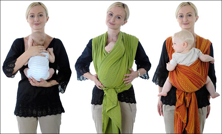 слинг-шарф положение ребенка в слинге новорожденный в слинге