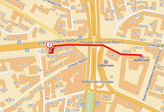 Карта шоу-рум Ellevill.org