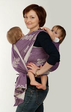 Намотка слинг-шарфа для двойни