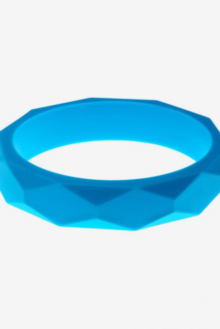 Молочный браслет из пищевого силикона, голубой