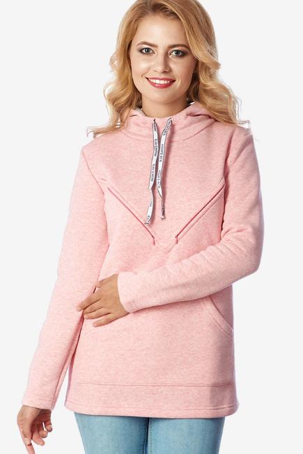 Толстовка для беременных и кормящих из футера Betty, розовый ... 1b298e9bc80