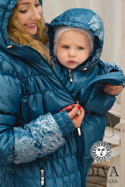 Слингокуртка Diva Outerwear Azzurro