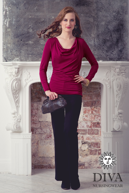 Топ для кормящих и беременных Diva Nursingwear Bella, цвет Berry