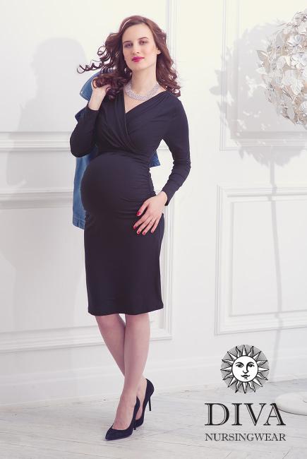 Платье для кормящих и беременных Diva Nursingwear Lucia, цвет Nero