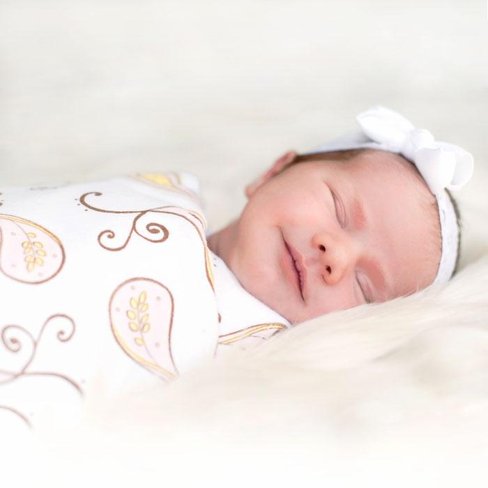Фланелевая пеленка для новорожденного SwaddleDesigns Pstl Blue Paisley