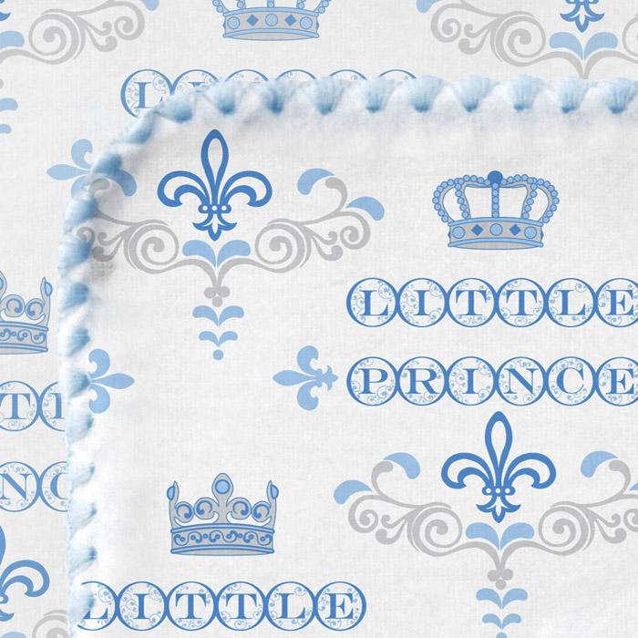 Фланелевая пеленка для новорожденного SwaddleDesigns PB Little Prince