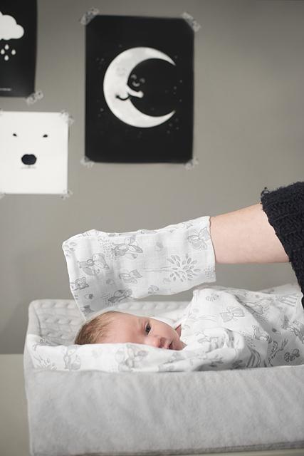 Муслиновые пеленки для новорожденных Jollein большие, Forest friends