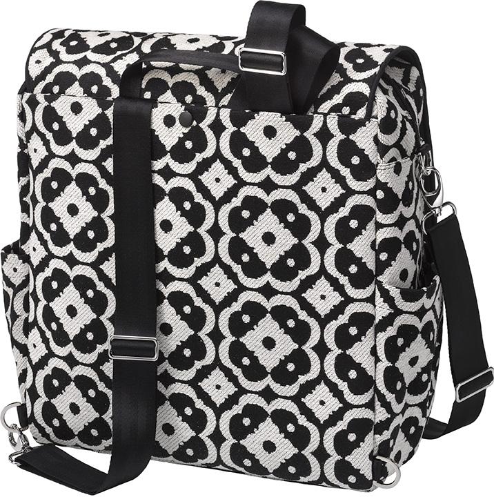 Сумка для коляски Petunia Boxy Backpack: Licorice Blossom