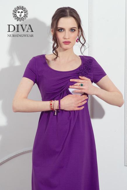 Летнее платье для кормящей мамы