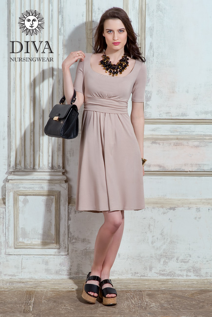 Платье для кормящих и беременных Diva Nursingwear Stella, Grano