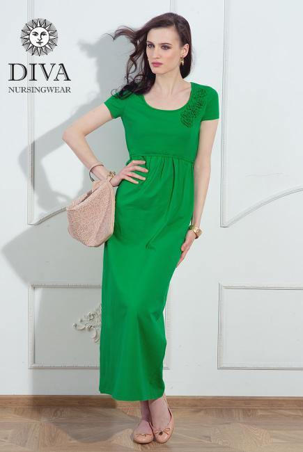Платье для кормящих и беременных Diva Nursingwear Dalia, цвет Aloe