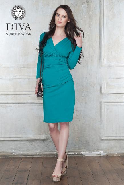 Платье для кормящих и беременных Diva Nursingwear Lucia, цвет Smeraldo