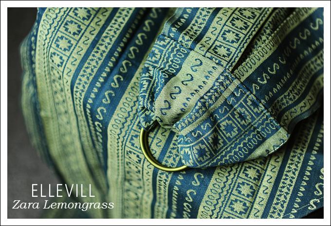 Слинг с кольцами Ellevill Zara Lemongrass