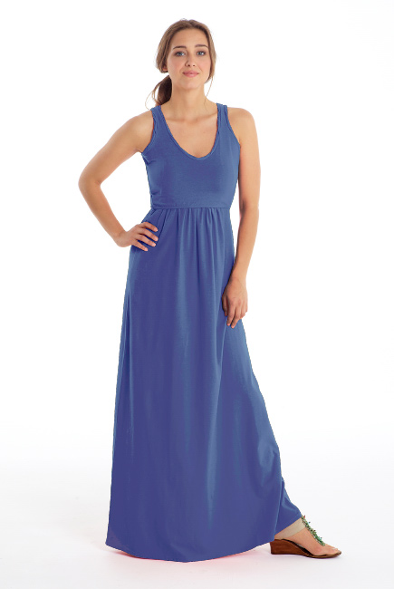 Платье для кормящих Must Have V-Neck Maxi, Deep Periwinkle