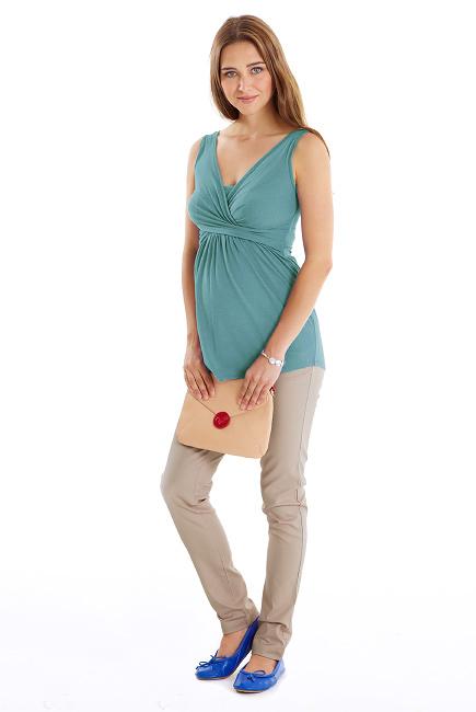 Топ для кормления Mothers en Vogue Wrap Top, без рукавов, Teal