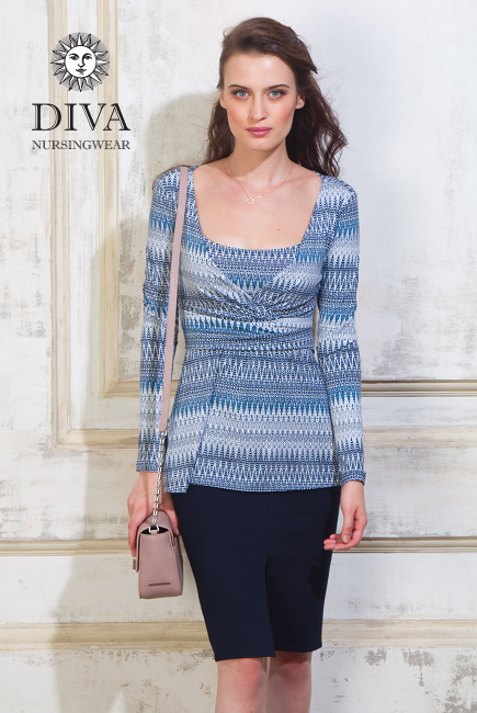 Топ для кормящих и беременных Diva Nursingwear Alba, принт Iceberg