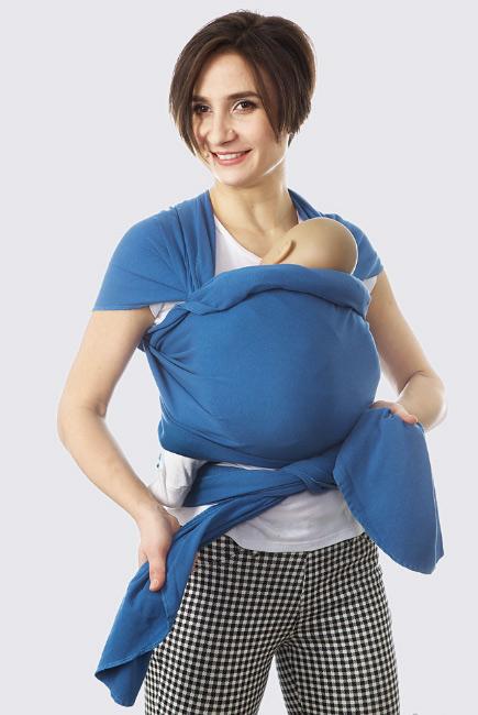 Слинг-шарф трикотажный, синий