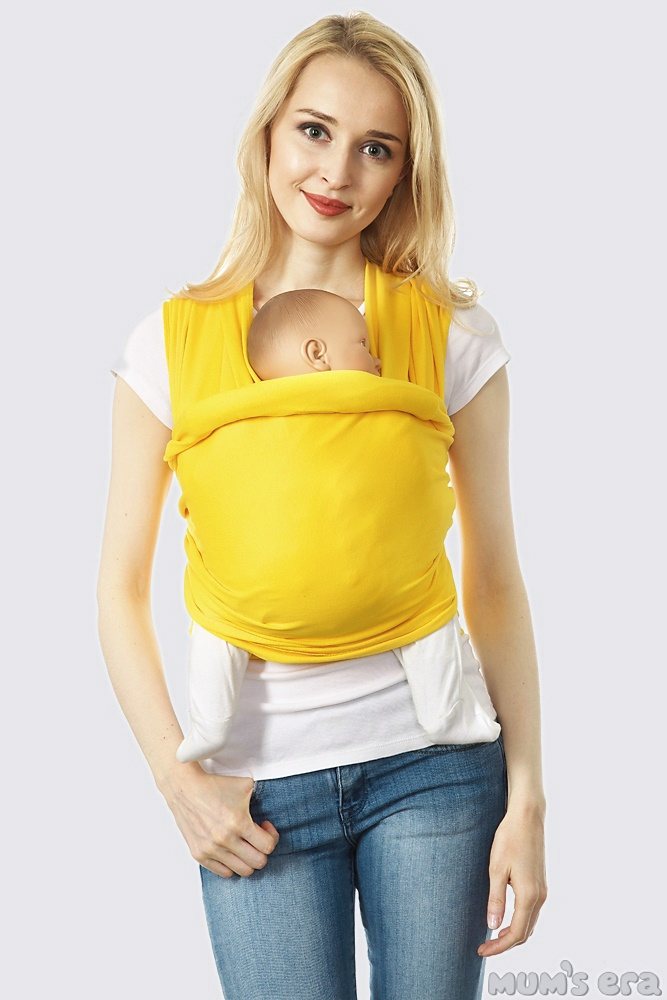 Слинг-шарф трикотажный, желтый