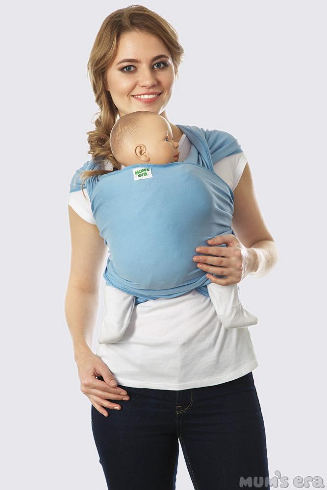 Слинг-шарф трикотажный, голубой