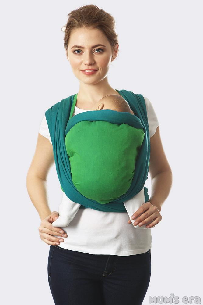 Слинг-шарф Casual, сине-зеленый