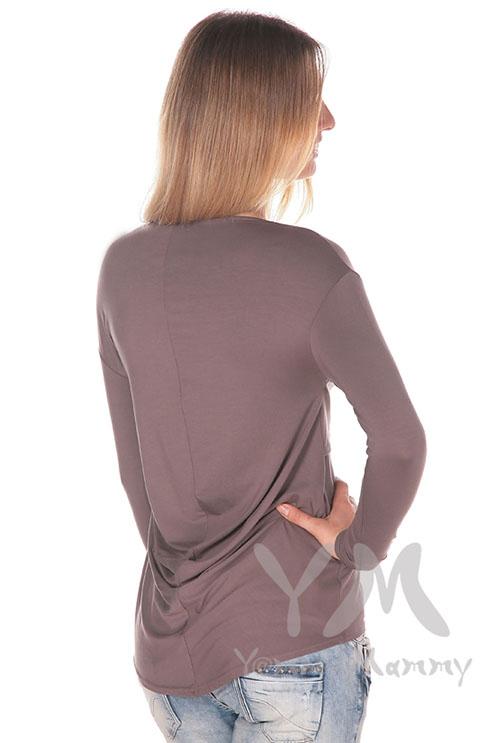 Туника для беременных и кормящих с драпировкой на спине, мускат