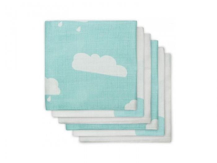 Муслиновые пеленки для новорожденных Jollein средние, Clouds Jade