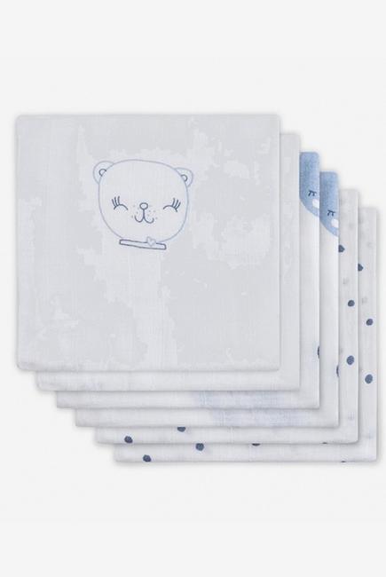 Муслиновые пеленки для новорожденных Jollein средние, Funny Bear Blue