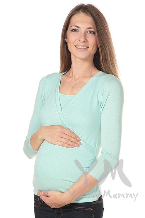 Блуза для кормящих и беременных, ментол