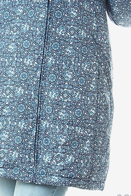 Зимняя слингокуртка Ingrid 3в1, синий орнамент