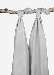 Комплект бамбуковых пеленок для новорожденных 2 шт. Jollein, grey