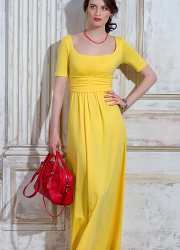 Платье для кормящих и беременных Diva Nursingwear Stella Maxi, Limone