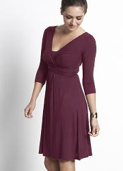 """Платье Mothers en Vogue """"Wrap Dress"""", рукав 3/4, цвет винный (Wood Violet)"""