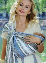 Слинг с кольцами Ellevill Zara Tricolor Blue со льном