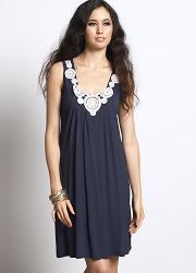 """Платье для кормления """"Zahra Applique"""", синий"""