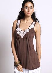 """Туника для кормления """"Zahra Applique"""", цвет коричневый"""