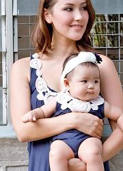 Боди Zahra Applique для малыша, синий (Eclipse)