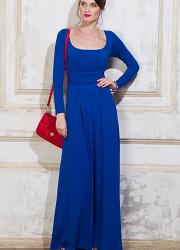 Платье для кормящих и беременных Diva Nursingwear Stella Maxi дл.рукав, цвет Azzurro
