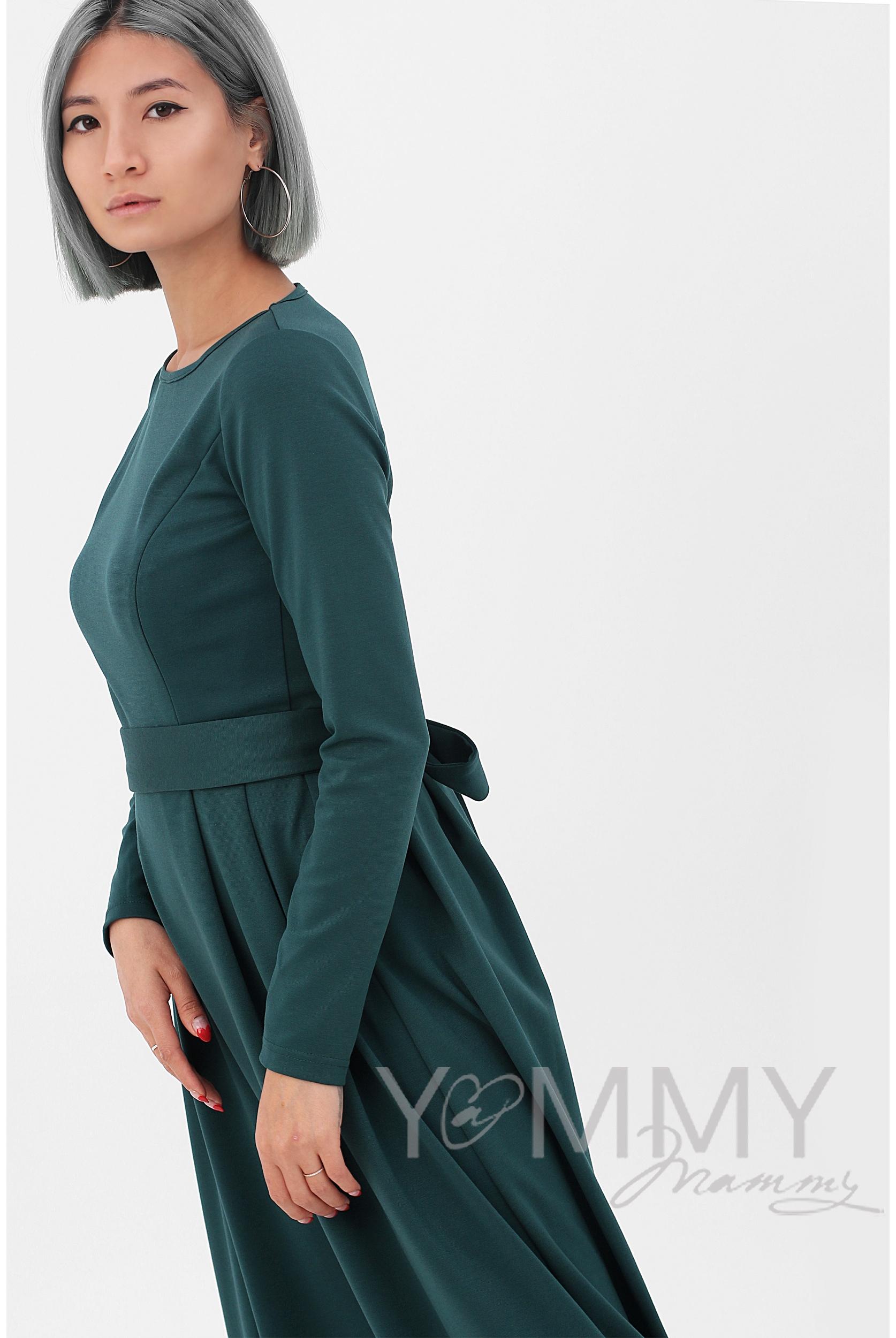 30ba50c7b3c ... изумрудное Платье для кормящих и беременных в пол
