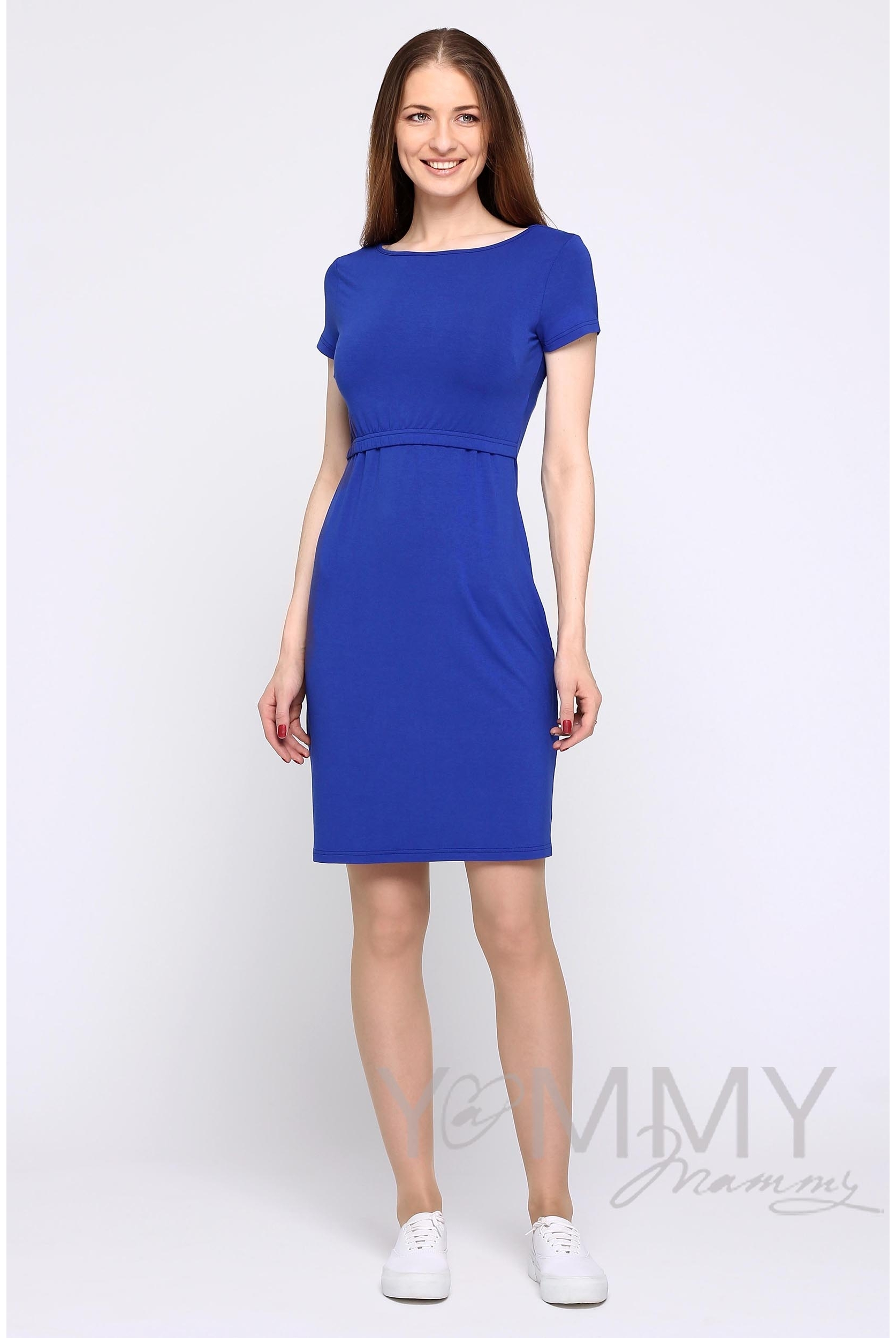 Платье для беременных и кормящих из вискозы, ультрамарин - купить ... 3d29ae1fe07