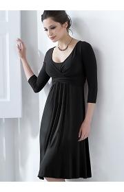 """Платье Mothers en Vogue """"Wrap Dress"""", рукав 3/4, цвет черный"""