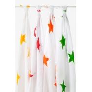 Муслиновые пеленки для новорожденных Aden&Anais, большие, набор 4, Super Star