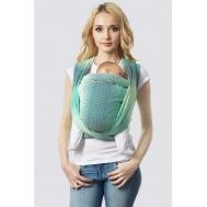 Слинг-шарф алмазного плетения, градация лагуна