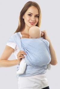 Слинг-шарф алмазного плетения, голубой