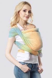 Слинг-шарф алмазного плетения, градация саванна