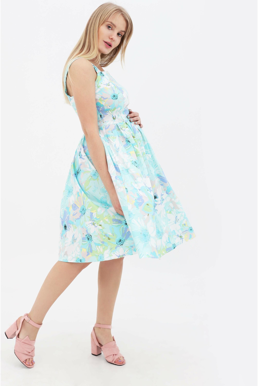 d8a963035516f5 ... ментол Платье-сарафан для беременных и кормящий с цветочным принтом, ...